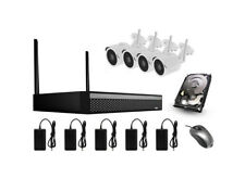 KIT VIDEOSORVEGLIANZA WIFI 1 TB 4 CAMERE 4CH HD 1080p NVR ESTERNO INTERNO 2MP