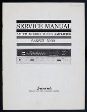 SANSUI 5000 ORIGINAL AM/FM Stereo Tuner Amplifier service-manual/Diagram!