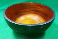 """Primitive Carved Burl Wood Bowl 9.5""""  dia. mAAC"""