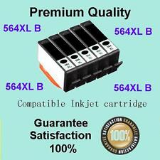 5X HP Comp 564XL Black Photosmart 3520 3070a 5510 5520 4620 6510 6520 7510 7520