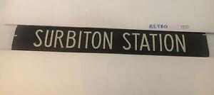"Norbiton London Bus Destination Blind 87 42""- Surbiton Station"