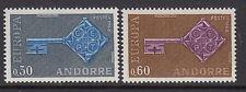 Andorra (francés): 1968 Europa Set Sg f208-9 never-hinged Perfecto