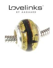 Genuine Lovelinks 925 argento Sterling Charm SERPENTE D'ORO MURANO BEAD