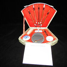 CHINESE CALLIGRAPHY SET - NEW - 5 BRUSHES, INK STICK, HOLDER, RED INK & CHOP