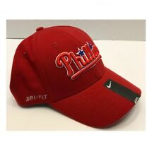 MLB Philadelphia Phillies Nike Hat One Size Red Dri Fit Stretch Hat Cap