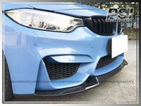 CS2 Style Carbon Fiber Front Bumper Add-on Lip For 2015-2018 BMW F80 M3 & F82 M4