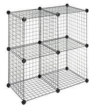 Whitmor 4 Storage Cubes Organizer Rack Box Container Shelf Shelves Steel Holder