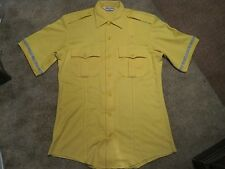 BIKE SHIRT COOL MAX YELLOW POLICE - SECURITY STYLE WITH REFLECTIVE ON SLEEVES