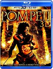 NEW BLU RAY 3D + BLU RAY -    POMPEII -  Carrie-Anne Moss, Emily Browning,