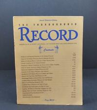 Annual Statistical Edition1952 Thoroughbred Record Cover 1951 Vol 155 #6 Book R1