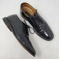 Bostonian Luxe Black Leather Oxfords sz 9.5 M Cap Toe Lace Up Mens Dress Shoes