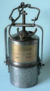 Lampe de mineur à acétylène ARRAS ~ estampille hors normes ~ lampe à carbure