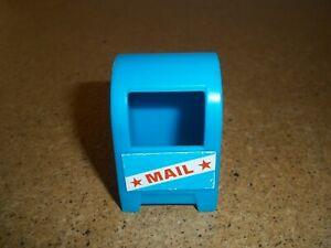 Vtg. Fisher Price Little People Sesame Street Mailbox.