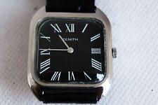 orologio zenith cioccolatone manuale anni '70 acciaio