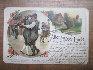alte AK Altenburger Land 1900 gelaufen Schmölln Mühltroff Thüringen Sachsen rar