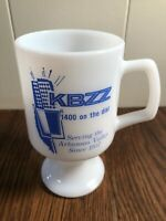 Vintage KBZZ 1400 Collectible Milk Glass Coffee Cup Serving the Arkansas Valley