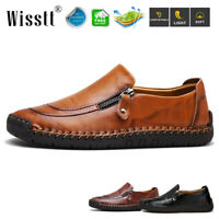 Men's Business Dress Formal Zip Up Leather Shoes Driving Oxford Moccasin Loafers