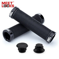 MEETLOCKS Double Lock-on Bike Handlebar Grips for MTB Mountain BMX Bicycles