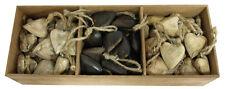 Herzhänger creme braun natur 90 Stück Holzherzen zum Hängen Dekoherzen Herz