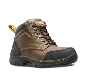 Dr Martens Riverton Steel Toe Cap Safety Work Boots Brown Leather