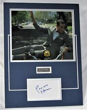 Pee Wee Herman signed matted card display authentic guaranteed  Paul Ruebens