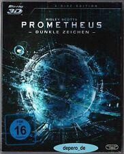 """PROMETHEUS - DUNKLE ZEICHEN"" - SciFi Kult - 3D + 2D BLU RAY im Pappschuber OVP"