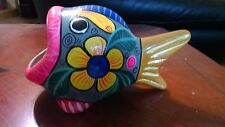Unique Hand Painted Tropical Fish Figurine From Mexico