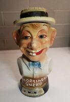 Goofy Face Of Mortimer Snerd Collectible Kentucky Whiskey Porcelain Decanter