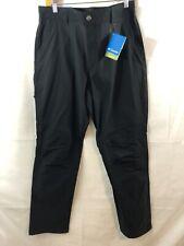 Columbia Omni-Shield Hiking Pants 36x34 Black Advanced Repellency Nylon Bend Nwt