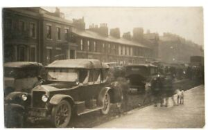 FLEETWOOD LEEDS HELP CONVOY  FLOOD DAMAGE LANCASHIRE ORIGINAL REAL PHOTO 1927