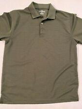 Grand Slam Ribbed Stripe Short Sleeve Golf Polo Shirt Men's Large
