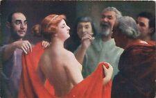 Postcard Jose Frappa Phryne Nude Unused Musée d'Orsay Paris c1907-15