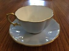 Vtg Royal Albert Bone China Tea Cup And Saucer Powder Blue and Gold Gilded
