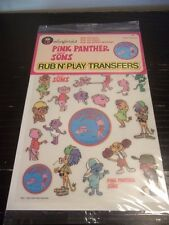 1984 Colorforms Pink Panther and Sons Rub N' Play Transfers New Sealed toy