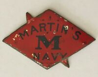 Martins Navy Advertising Brand Antique Pin Badge Rare Vintage (A7)