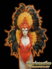 Orange CABARET Feather SAMBA CARNIVAL Costume Headdress
