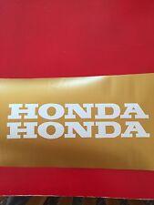 Vintage HONDA CT 70 Mini Bike Gas Tank Decal Stickers (1 NEW SET) White vinyl
