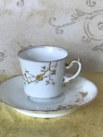 Vintage limoges porcelain coffee Cup with a saucer
