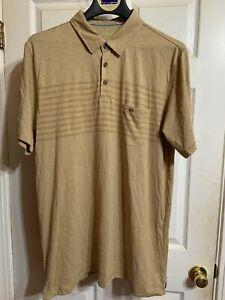 Outdoor Life Mens Beige Olive Slate Stripe Shirt Size XLT