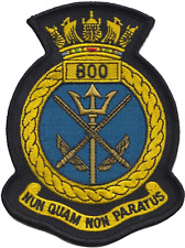 800 NAS Naval Air Squadron Royal Navy FAA Crest MOD Embroidered Patch