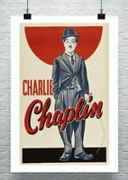 Charlie Chaplin Vintage Movie Poster Premium Canvas Giclee Print 24x36 in.