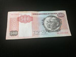 ANGOLA 500 KWANZAS  BANKNOTE 1984
