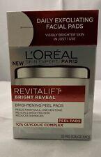 L'Oreal Paris Revitalift Bright Reveal Brightening Peel Pads (30 Pre Soaked)
