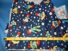 Raggedy Anne Andy Fabric Scraps assorted sizes, 4 ounces total
