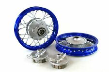 "Blue Front & Rear Alum wheels rims 10"" 10 inch CRF50 XR50 Pit Bike Stock Drum"