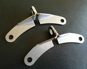 Pair Brackets for Front Brake Hoses Stainless 577697 fits Land Rover Series 3