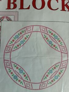 White Quilt Block Wedding Ring 20 Rings Queen Or King