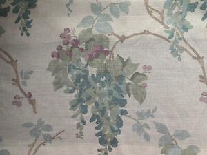 "11x15"" cushion cover in Laura Ashley Wisteria Duck Egg Fabric, Austen reverse"