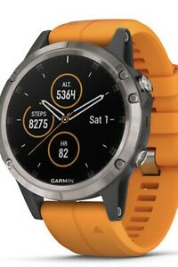 Garmin Fenix 5 Plus 47mm GPS Orologio + 4 Cinturini