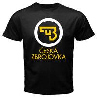 NEW CZ USA Ceska Zbrojovka Firearms Guns Logo Men's Black / White T-shirt S-2XL